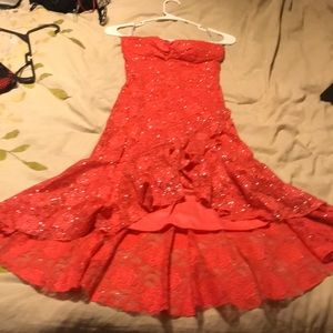 Holiday Dress. Orange and sparkly